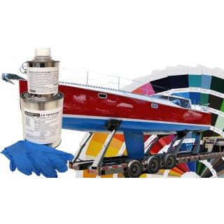 2K Bootslack MATT für GFK /& Kunststoff Anthrazitgrau RAL 7016 Grau Yachtlack